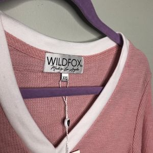 Wildfox Tops - NWT Wildfox Leroy Thermal tee size XXS // P31